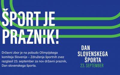 23. september – Dan slovenskega športa